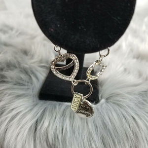 Juicy Couture Heart & Horseshoe Charm Bracelet